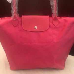 Le Pliage Neo Pink Large Nylon Tote